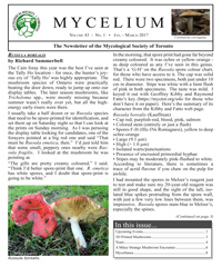 Cover of Mycelium vol. 43 no. 1